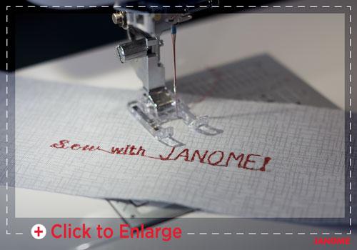 Janome 6700P Monogramming