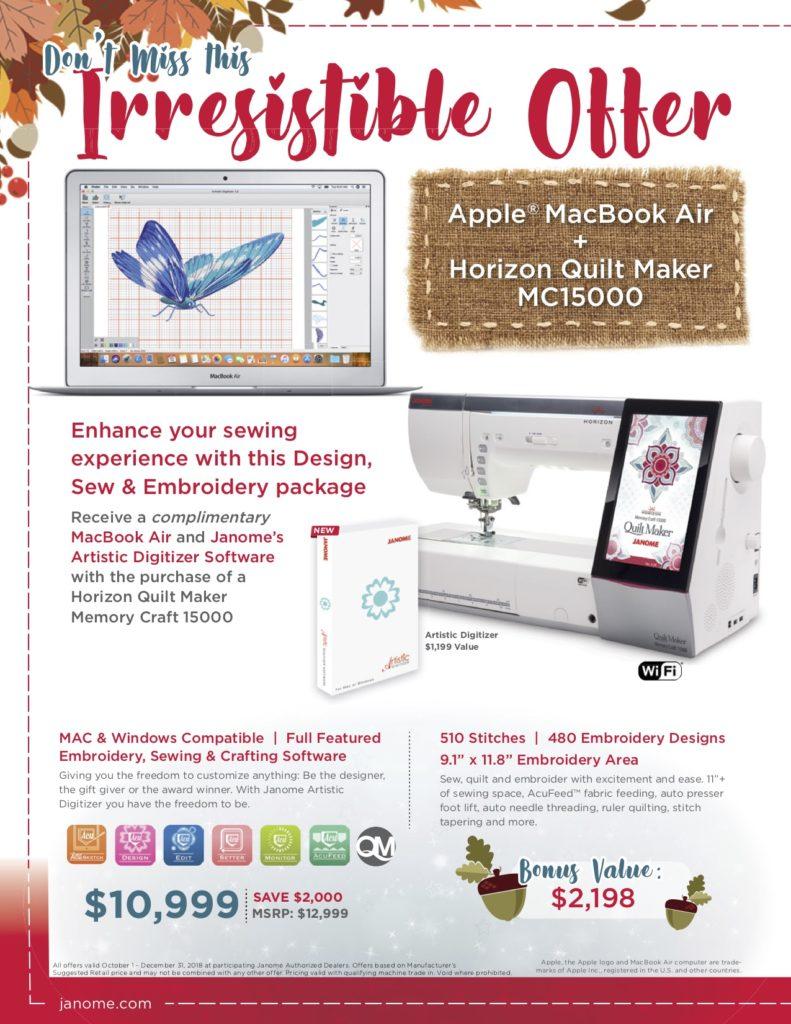 hp flyer lr 791x1024 - Horizon Quilt Maker Memory Craft 15000
