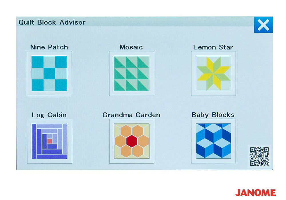 quilt block advisor lg - Janome Continental M7 Professional